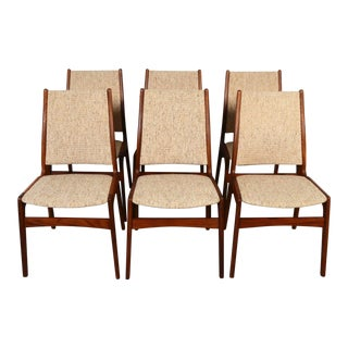 1970s Danish Modern Anderstrup Teak Dining Chairs - Set of 6 For Sale