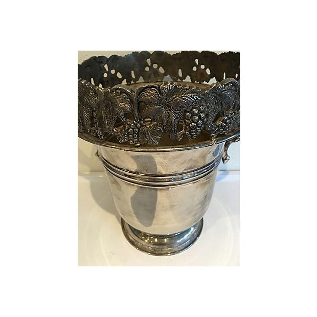 Contemporary Ornate Silver Champagne Bucket For Sale - Image 3 of 5