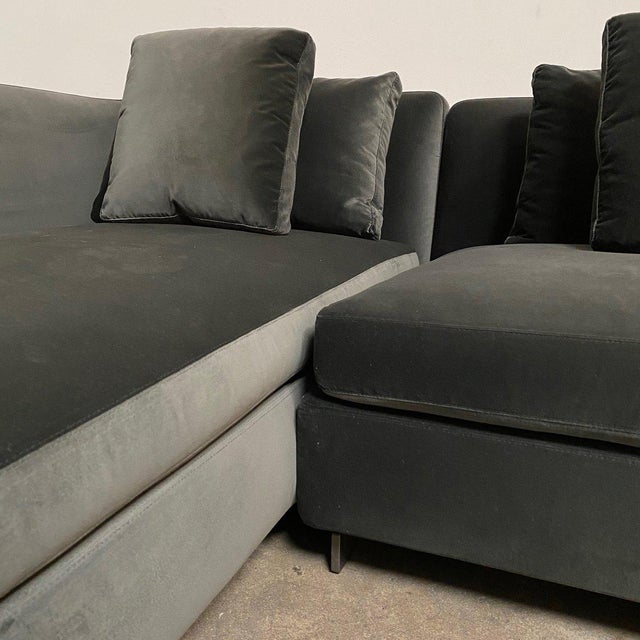 Minotti Mid-Century Modern Minotti 'Seymour' Sectional W/ Left Chaise For Sale - Image 4 of 9