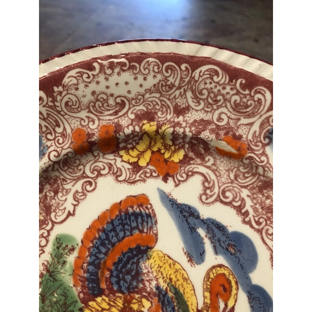 Set of 3 Italian Majolica Turkey Plates For Sale - Image 6 of 9