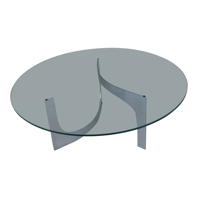 Mid Century Modern Aluminum Sculptural Table by Knut Hesterberg by Bacher Tische For Sale