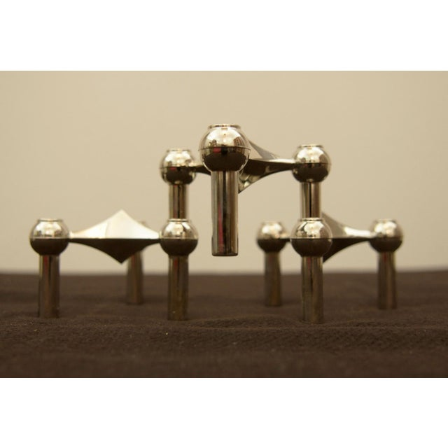 Brass candle holder by Fritz Nagel & Ceasar Stoffi for BMF, 1962 - set of 3 For Sale - Image 11 of 11