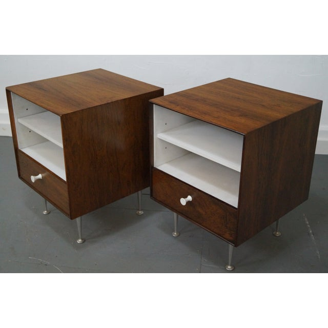 George Nelson Miller Rosewood Nightstands - Pair - Image 3 of 10