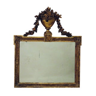 1820 French Giltwood Overmantel Mirror