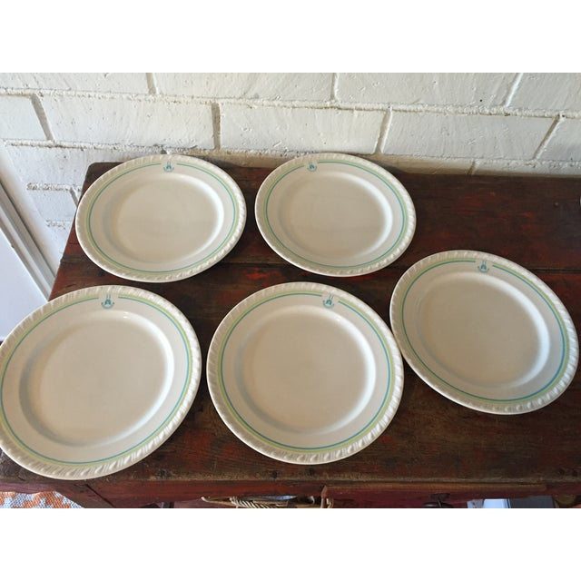 Restaurant Ware Plates with Castle - Set of 6 - Image 6 of 8