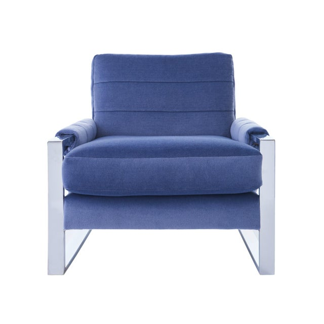 Mid-Century Modern Adrian Pearsall for Craft Associates Mohair, Wood & Chrome Lounge Chair - a Pair For Sale - Image 3 of 9
