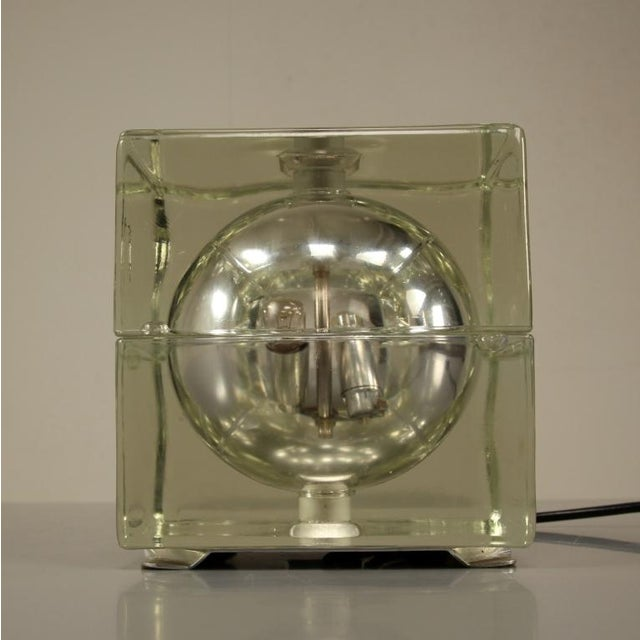 Cubosfera Glass Table lamp by Alessandro Mendini, Italy, 1960s - Image 4 of 4