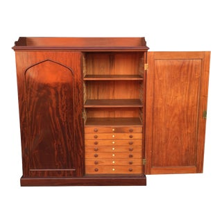 English Estate Compendium or Collector's Cabinet of Mahogany For Sale