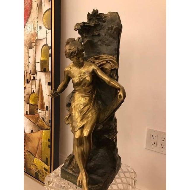 """Emile Louis Picault Signed Bronze Sculpture """"Memoria"""" - Image 4 of 10"""