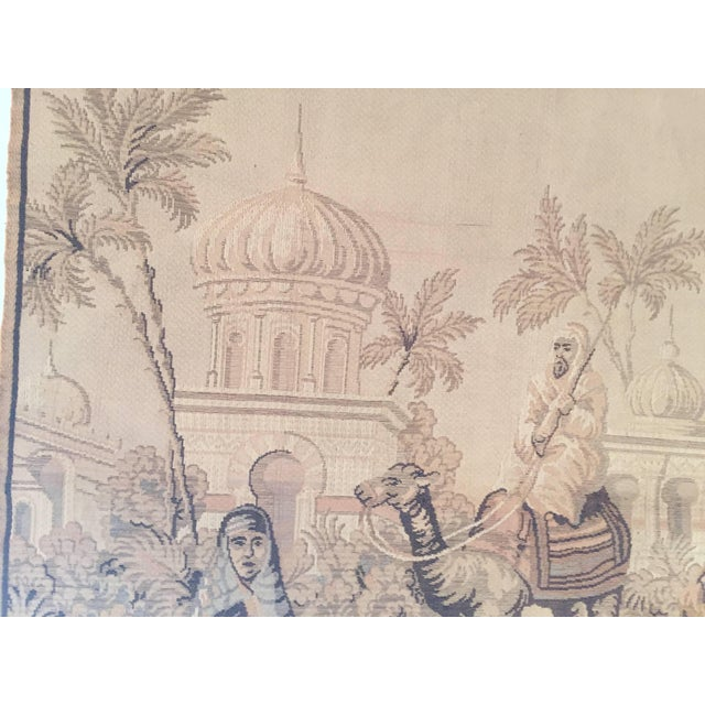 Textile Tapestry With an 19th Century Orientalist Scene and Moorish Architecture For Sale - Image 7 of 10