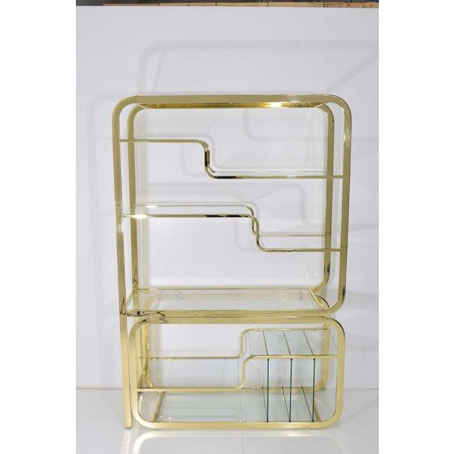 1970s Milo Baughman Brass Finish Étagère For Sale - Image 5 of 9