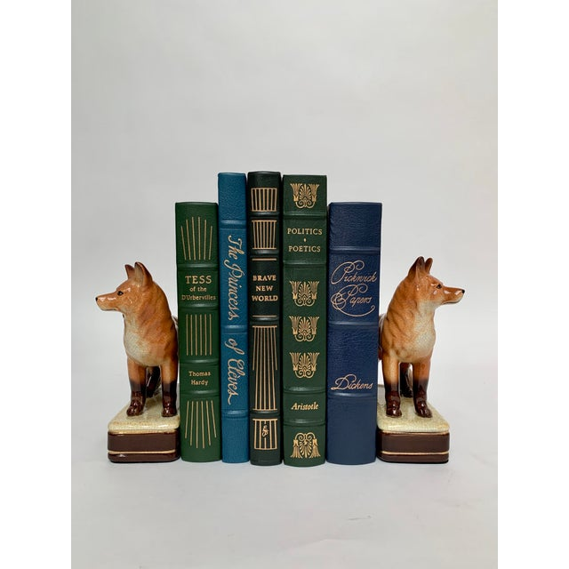 Staffordshire Style Fox Bookends – a Pair For Sale - Image 11 of 12