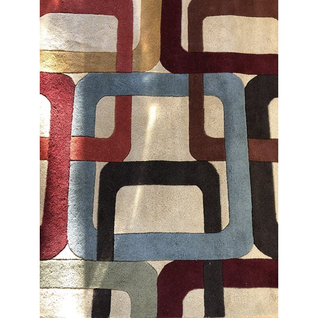 Surya Mid-Century Inspired Hand Tufted Surya Wool Rug - 8′ × 11′ For Sale - Image 4 of 8