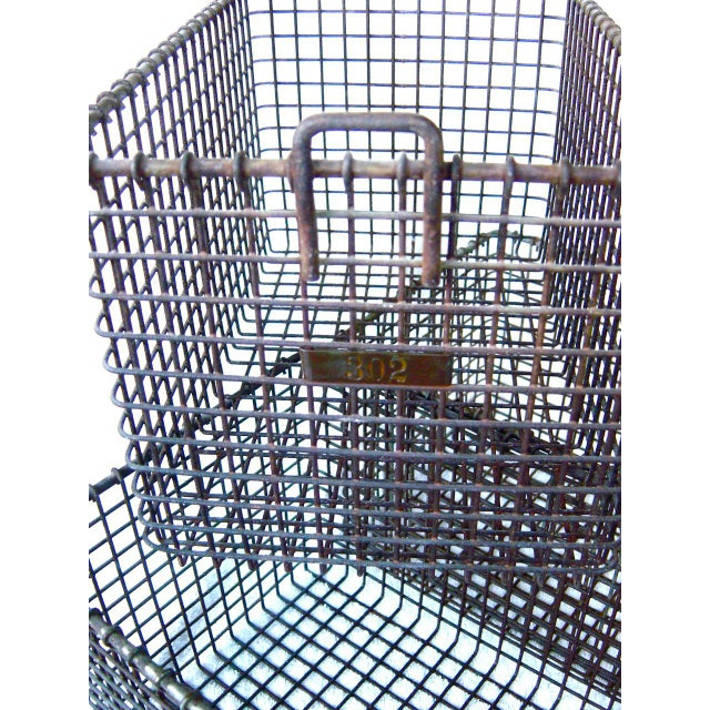 Mid 20th Century 20th Century Americana Metal Gym Baskets - Set of 3 For Sale - Image 5 of 7