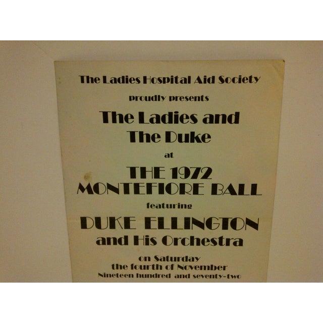 Vintage 1972 Duke Ellington Concert Poster For Sale - Image 4 of 7