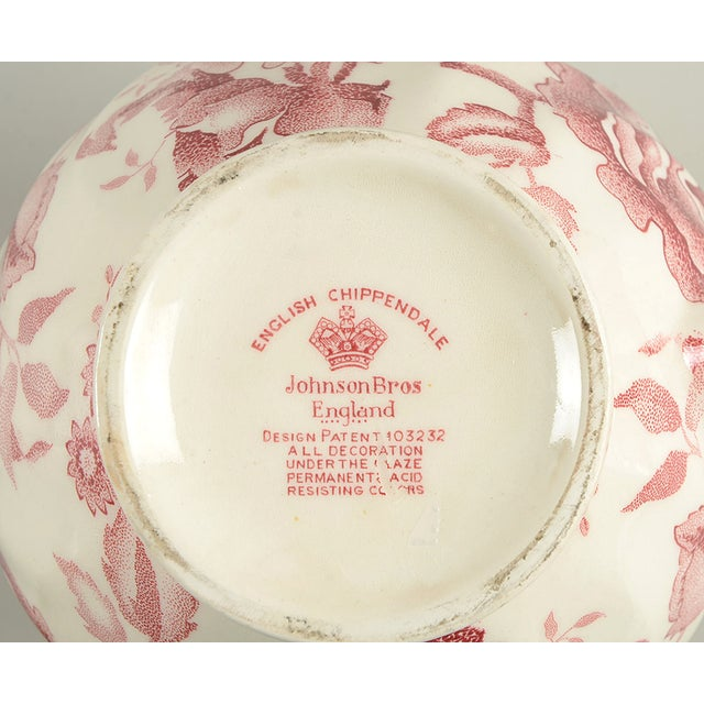 1910s Johnson Brothers English Chippendale 32 Oz Pitcher For Sale - Image 5 of 6