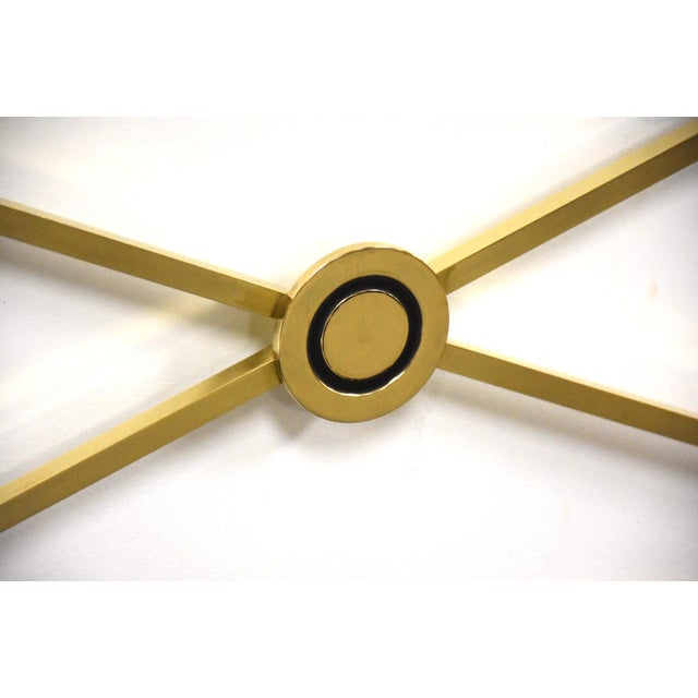 1960s Solid Brass King Headboard by Baker Mid-Century Modern For Sale - Image 5 of 8