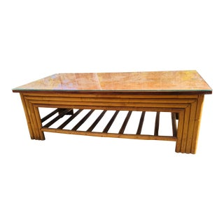 Paul Frankl Bamboo Coffee Table For Sale