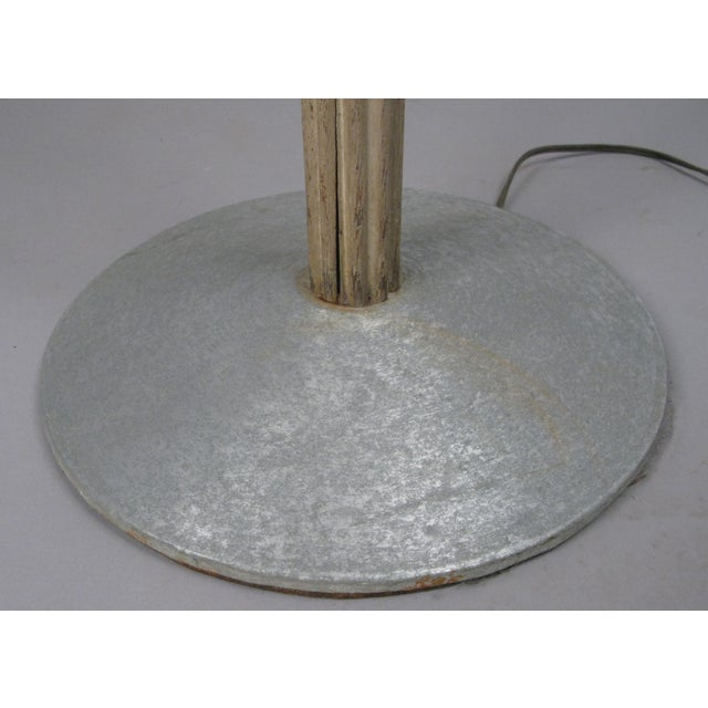 Art Deco Aluminum & Glass & Cerrused Oak Torchiere Floor Lamp by Russell Wright For Sale - Image 3 of 8