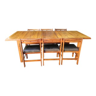 Danish Modern Dining Table Set - Set of 7