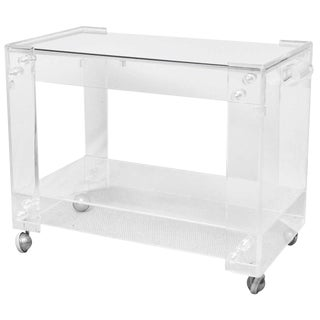Vintage Lucite Bar Cart For Sale