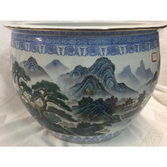 Chinese Fish Bowl Jardiniere For Sale - Image 10 of 10