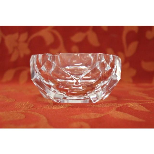 Beautiful and precious Belgian crystal ashtray label signed ASL Val Saint Lambert Crystal. Val Saint Lambert is a Belgian...
