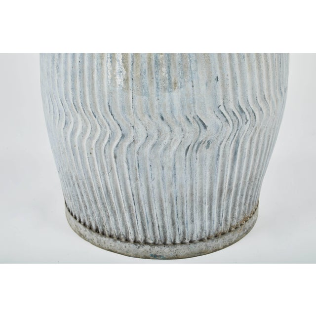 1990s English Zinc Garden Pots - a Pair For Sale - Image 9 of 10