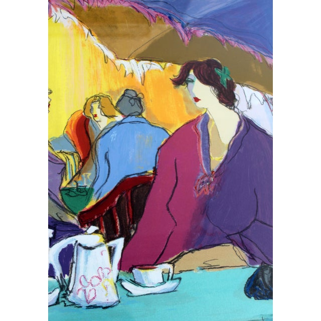 1980s Contemporary Modern Isaac Maimon Framed Hand Signed Serigraph Cafe Select For Sale - Image 5 of 8