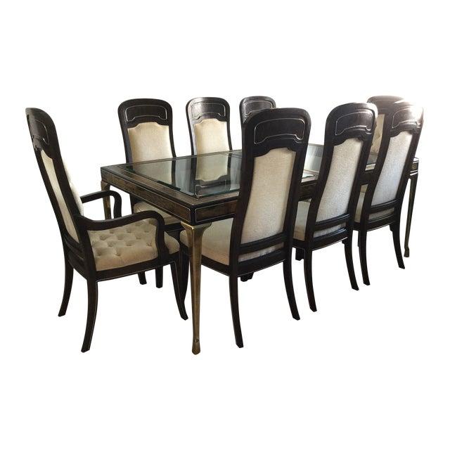 Bernhard Rohne Amboyna Burl Dining Set - Image 1 of 7