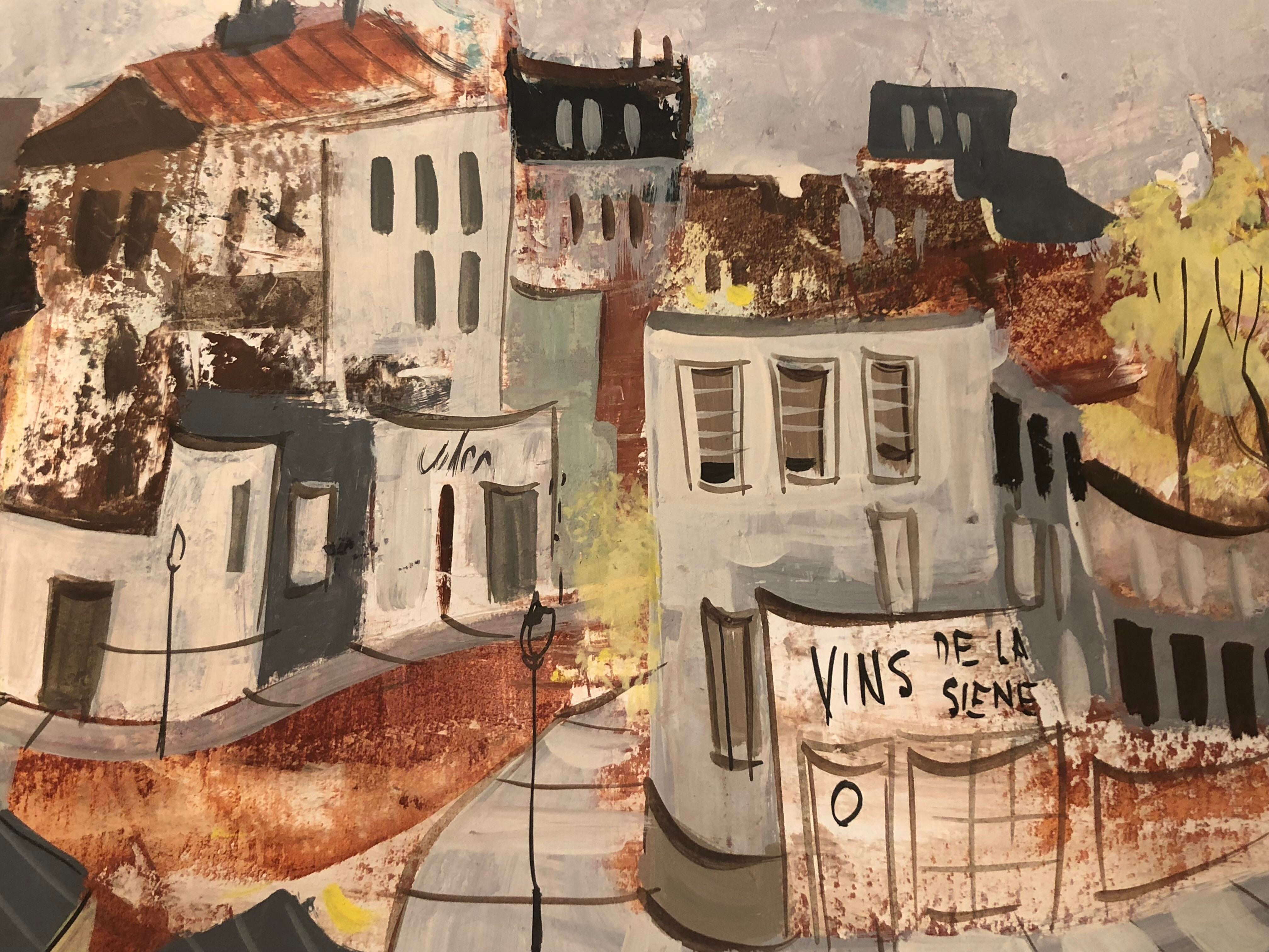 Vincent Whitfield French Village Painting Chairish