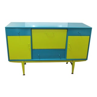 Peacock and Lime Sideboard For Sale