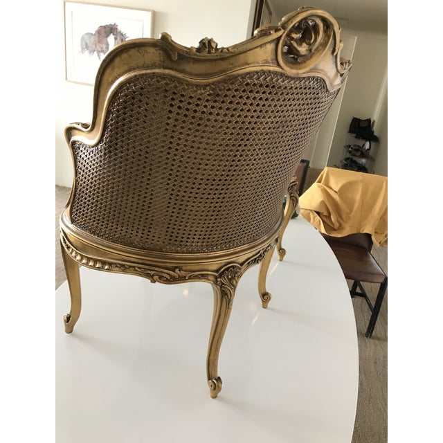 Early 20th Century Antique French Caned Tufted Tete' Te Settee For Sale - Image 10 of 13