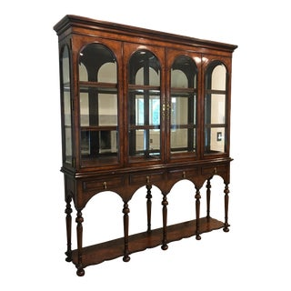 Traditional Hickory White Traditional Display Cabinet For Sale