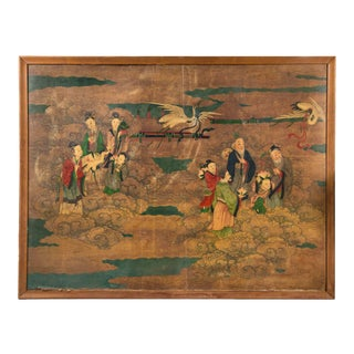 Large Antique Chinese Painting For Sale