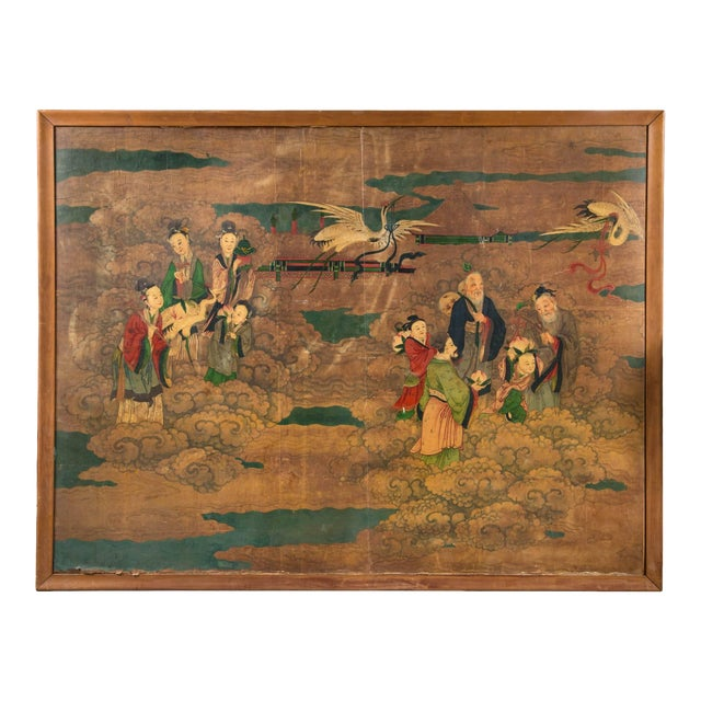 34f58e84c0847 Large Antique Chinese Painting For Sale. A large 19th century ...