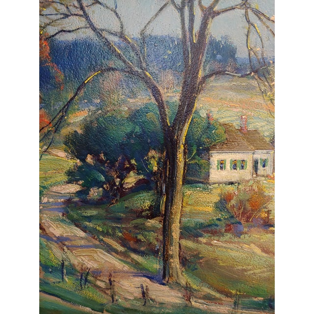 Clay New England Country Side Landscape Oil Painting For Sale - Image 7 of 10