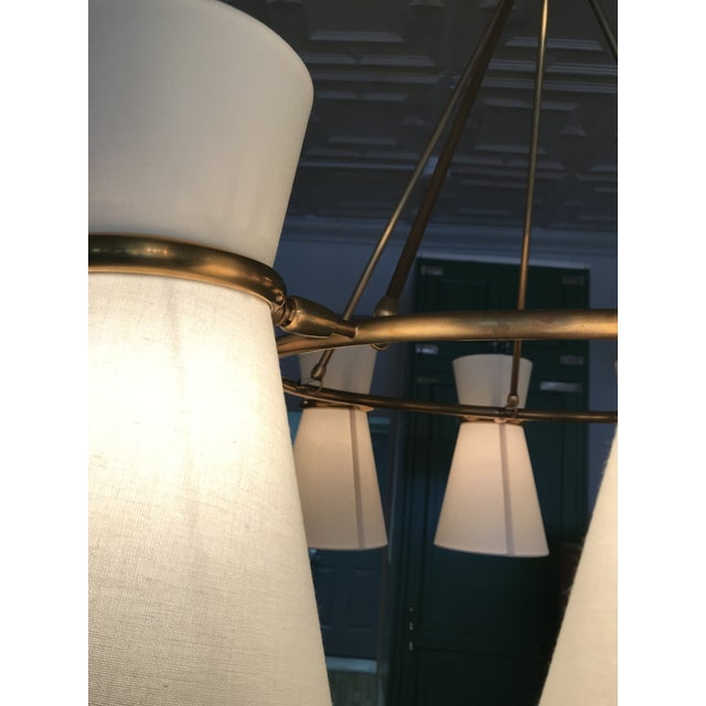 Visual Comfort Visual Comfort Aerin Clarkson Brass Chandelier For Sale - Image 4 of 7