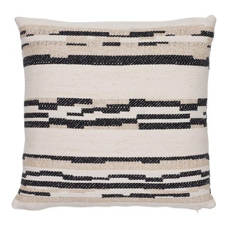 """Contemporary Schumacher Sambar Black Gold Two-Sided Pillow - 20ʺW × 20""""H For Sale"""