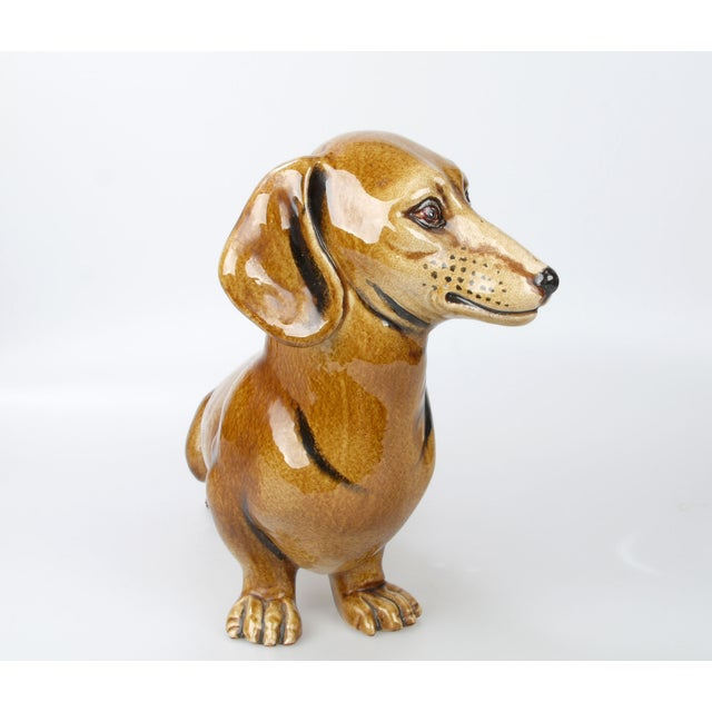Italian Brown Glazed Ceramic Dog For Sale In Miami - Image 6 of 9