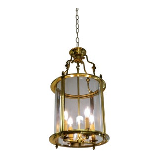 1950s French Brass Lantern For Sale