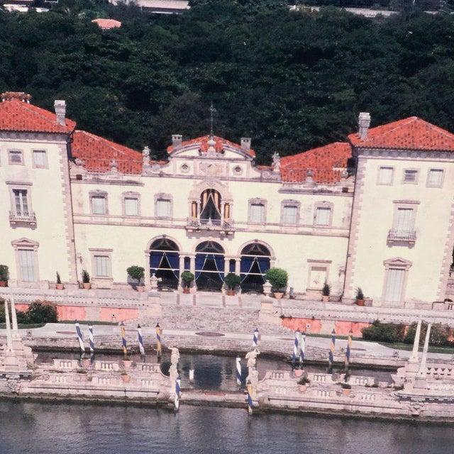 Monumental photographic print of villa vizcaya. Installation work from the lobby of villa vizcaya. Deaccessioned from the...