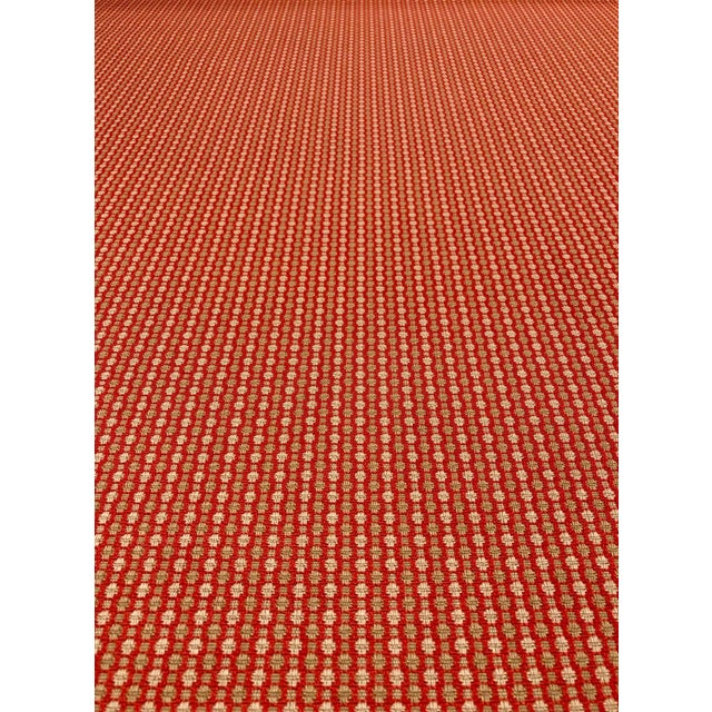 Jane Churchill for Cowtan & Tout Castor - Transitional Red / Sand Upholstery Fabric - 10 Yards For Sale