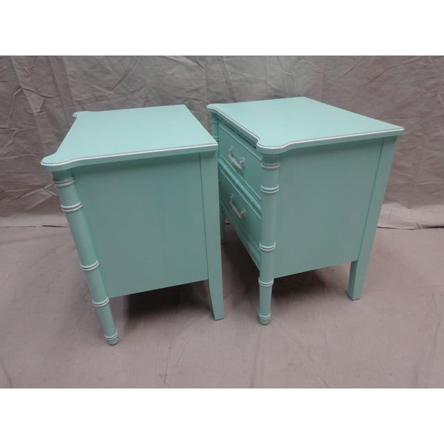 Vintage Bamboo Night Stands - Image 3 of 6