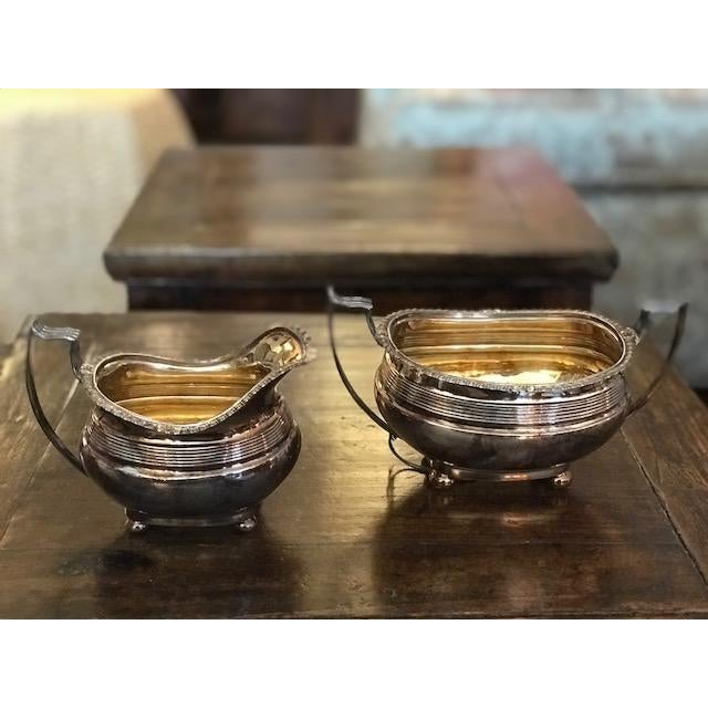 Lovely antique silver sugar and creamer. Perfect for afternoon tea or a thoughtful holiday gift!