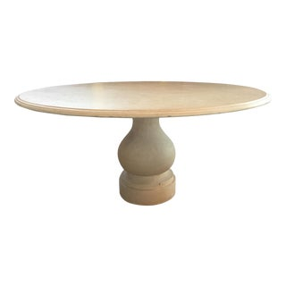 Round Limestone Dining Table