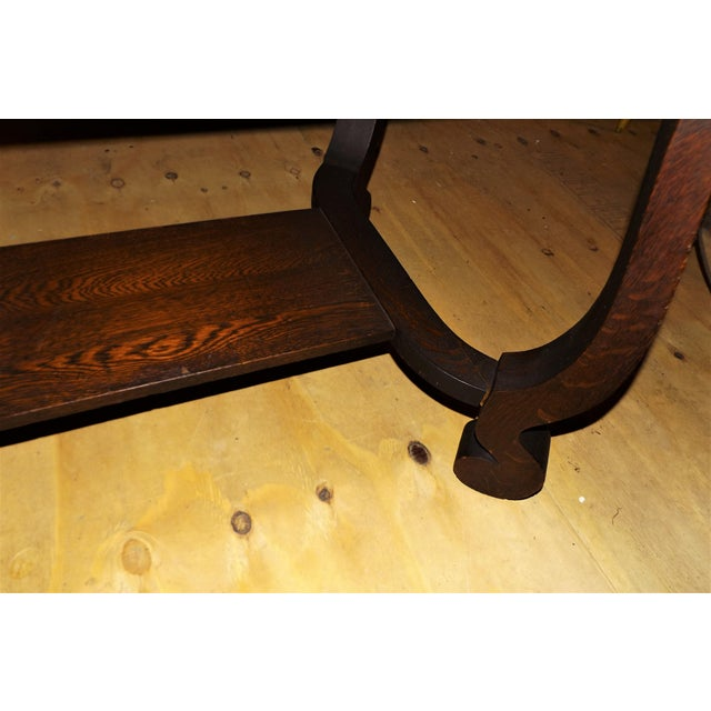 Brown Antique Walnut Library Desk For Sale - Image 8 of 11
