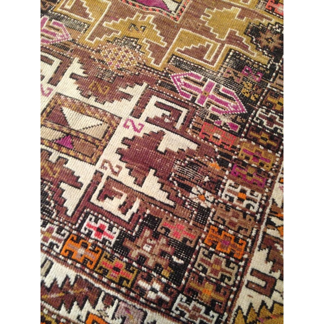 "Funky 1920s Russian Area Rug, 3'6"" X 4'9"" - Image 3 of 10"