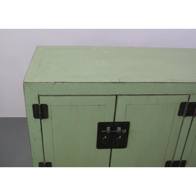 Antique Chinese Light-Green Lacquered Sideboard For Sale - Image 4 of 6