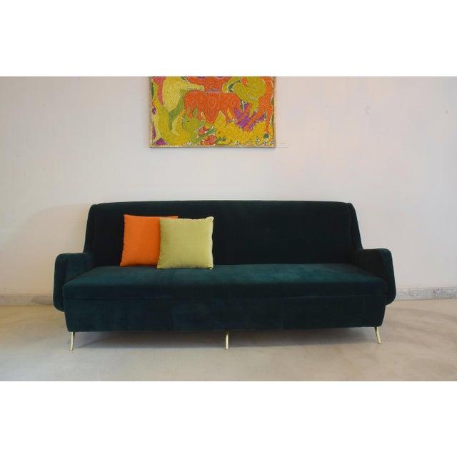 Italian Italian Vintage Midcentury Sofa, 1950s For Sale - Image 3 of 12